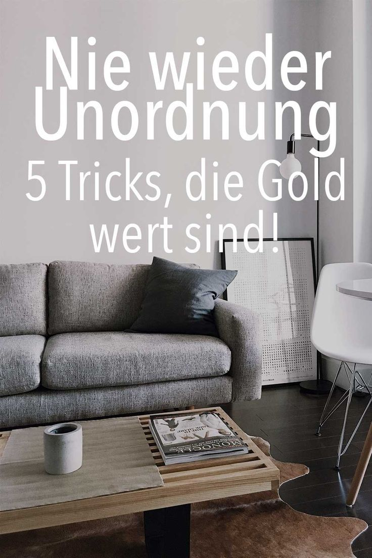 ► Ordnung zu Hause: Mit diesen 5 Tricks bleibt es immer aufgeräumt!