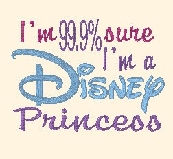 Princess saying 4x4 and 5x7 Embroidery Design immediate download on Etsy, $2.00