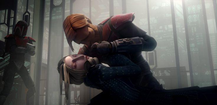 Darth Maul's Revenge - Death of Duchess Satine Kryze (HD) - Obi's love interest in Clone Wars - seen in several episodes throughout the series http://www.starwars7news.com/2014/05/speculation-is-obi-wans-grandchild-in.html