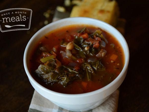 Southern Vegetable Stew - Once A Month Meals - Freezer Cooking - Freezer Meals - Vegetarian - OAMM - OAMC
