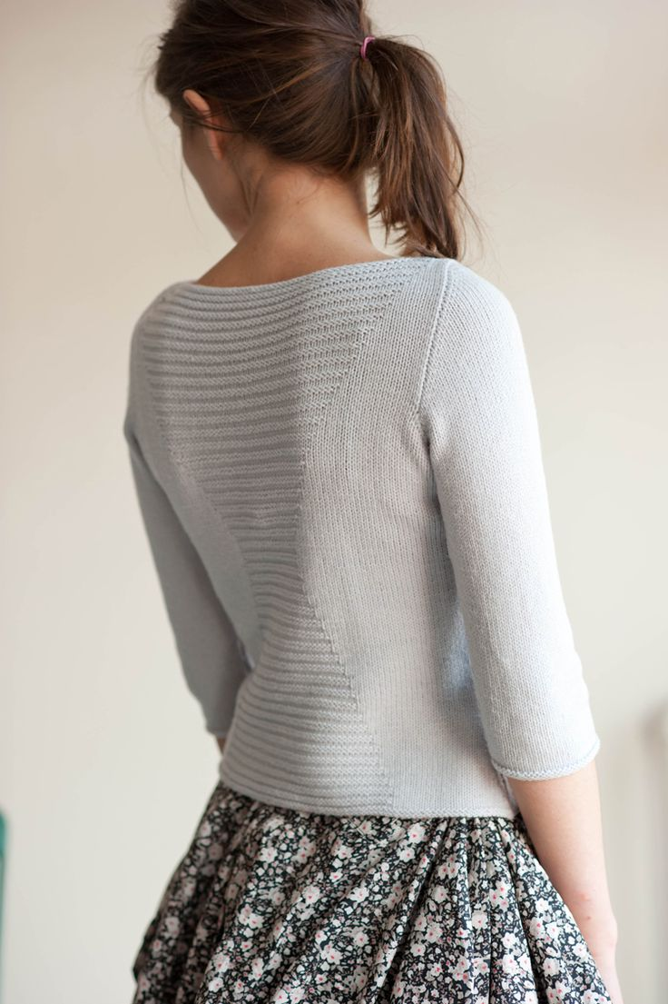 olga pullover in Chickadee published by Quince and Co designed by Olga Buraya-Kefelian