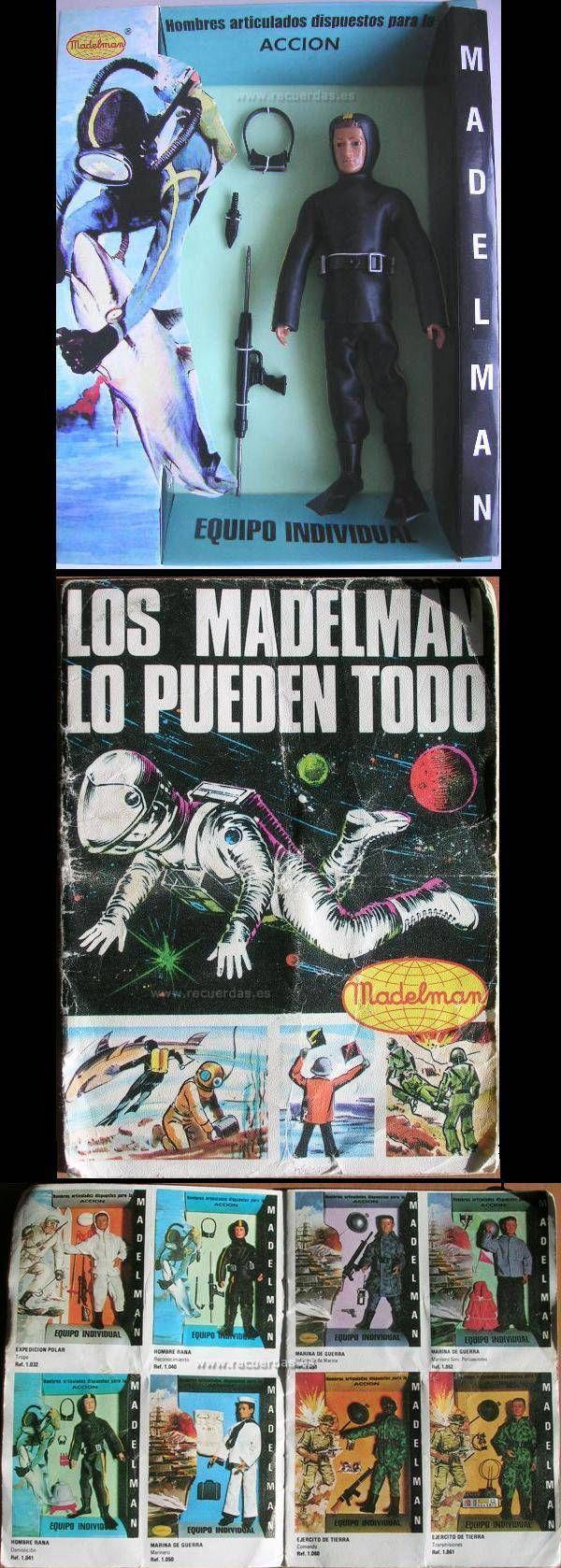 Madelman Hombre rana-Juguetes antiguos
