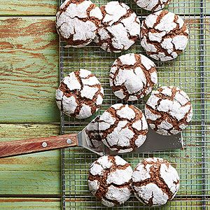 Chocolate-Mint Snow-Top Cookies