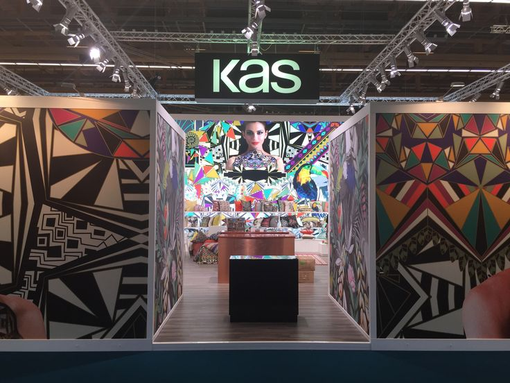 "Enter into the KAS Stand ""art edition"" at the 2015 heimtextil exhibition #lovekas"