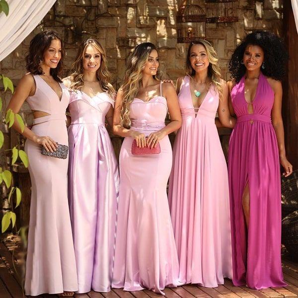 Confira uma seleção com mais de 20 vestidos rosa para madrinhas de casamento 2019 | Vestido de festa longo / Gown in 2019 | Bridesmaid dresses, Wedding, Prom dresses