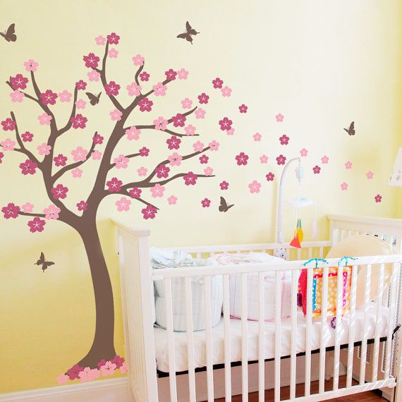 Large Cherry Blossom Tree  Wall Decal by WallumsWallDecals on Etsy, $99.00