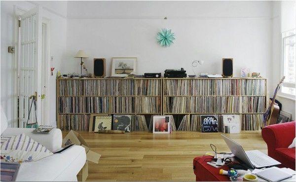 more shelves, lower. living room style.