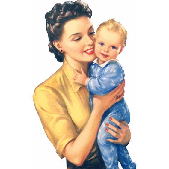 Мать и ребенок картинки для детей цветные