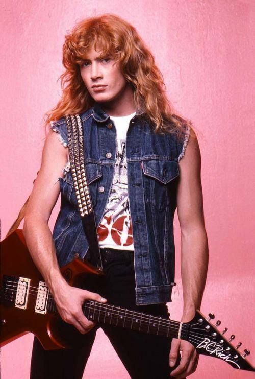 A very young Dave Mustaine of the heavy metal band Megadeth.