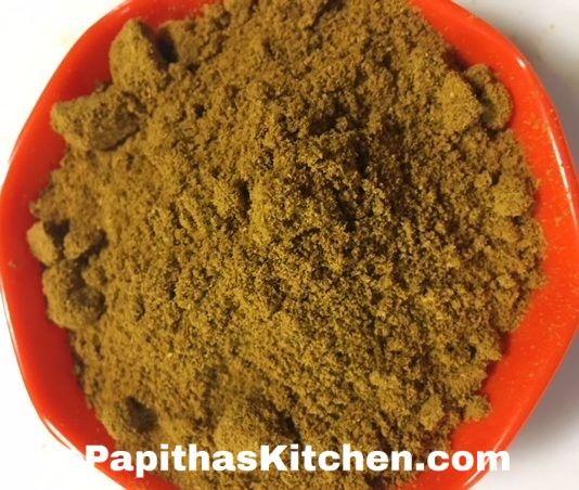 Chicken Masala Powder Homemade Papitha S Kitchen Recipe Chicken Masala Masala Indian Spices