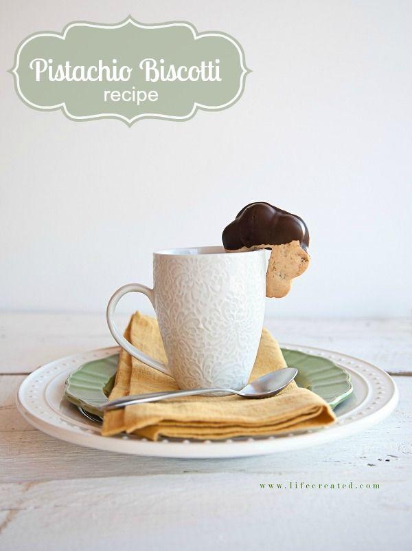 Pistachio Biscotti recipe. These are amazing! #pistachios #recipe