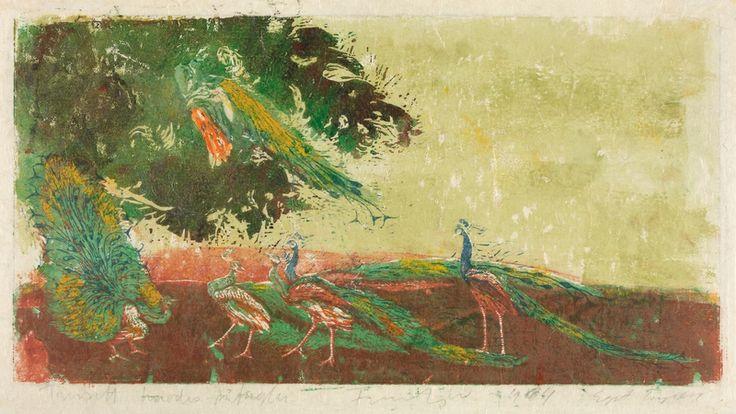(1964) (plate) / 1964 (trykk). Fargetresnitt på papir. ©Widerberg, Frans/BONO