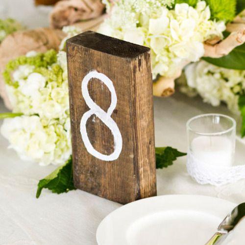 Tischnummern selber machen: Kreative und witzige Ideen für die Hochzeit