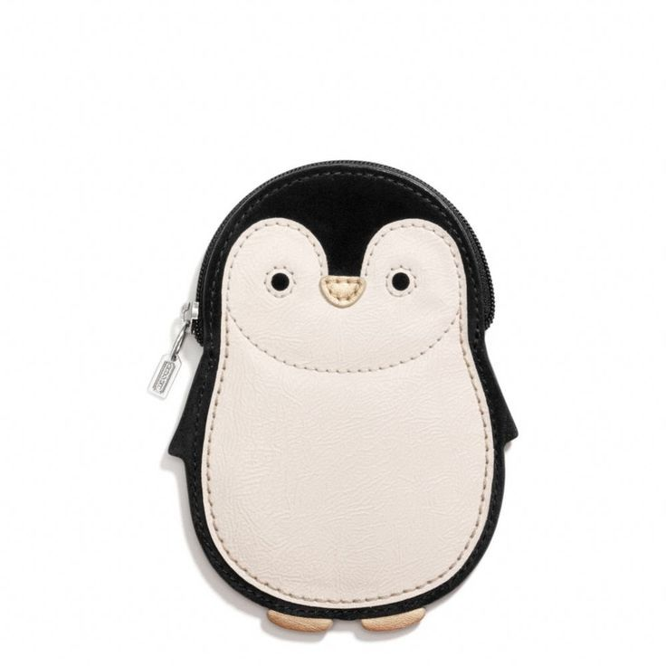 Coach penguin motif coin purse