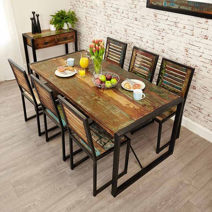 Ragana Reclaimed Timber Dining Table With Bench 3 Dining: 17 Best Ideas About Large Dining Tables On Pinterest