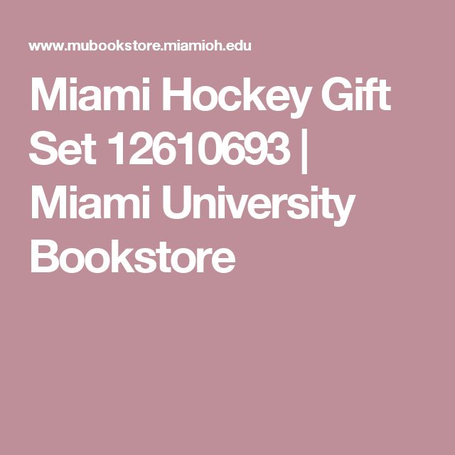 Miami Hockey Gift Set 12610693 | Miami University Bookstore