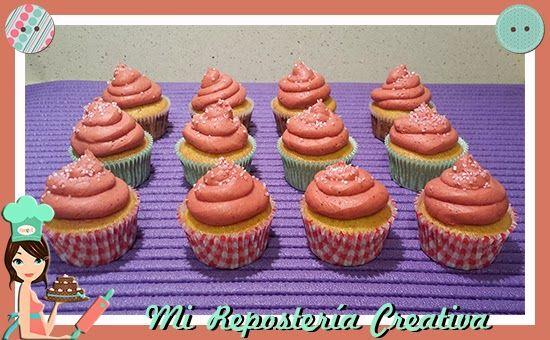 Cupcakes de Fresitas del Bosque