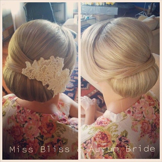 Such a stunning bride Jaci  Hair Styling by Kristy from Miss Bliss www.missblissonline.com.au #hairbun #classic #goldcoast #hairdresser