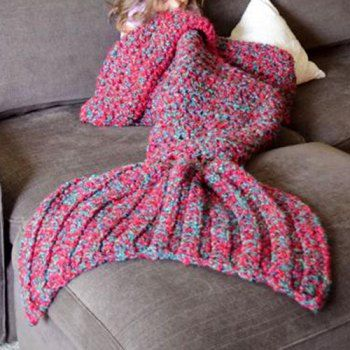 Chic Knitted Women's Fishtail Blanket (RED,ONE SIZE(FIT SIZE XS TO M)) in Blankets & Throws | DressLily.com $27.70