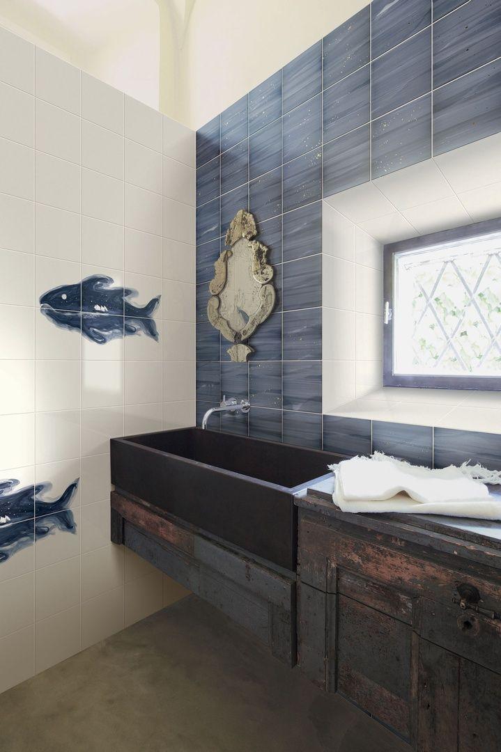 Ceramica BARDELLI   Collezione Il pesce celeste (design di Marcello Chiarenza)