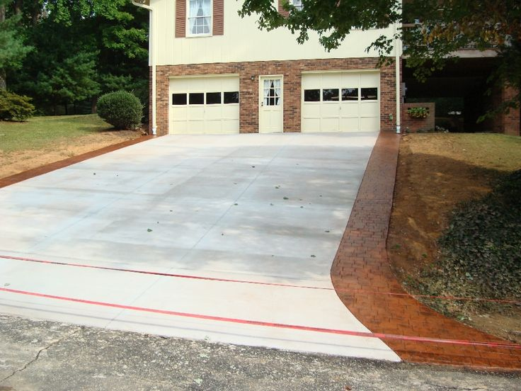 Driveway Tear Out and Replace with Stamped Border