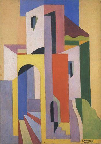 Enrico Prampolini (1894-1956) Architettura nello spazio 1920-22