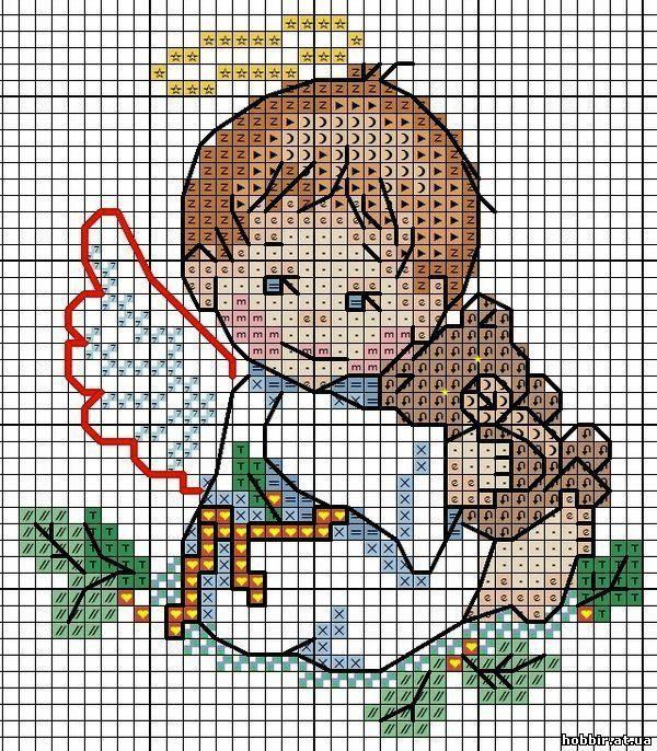 Angelo baby natale punto croce