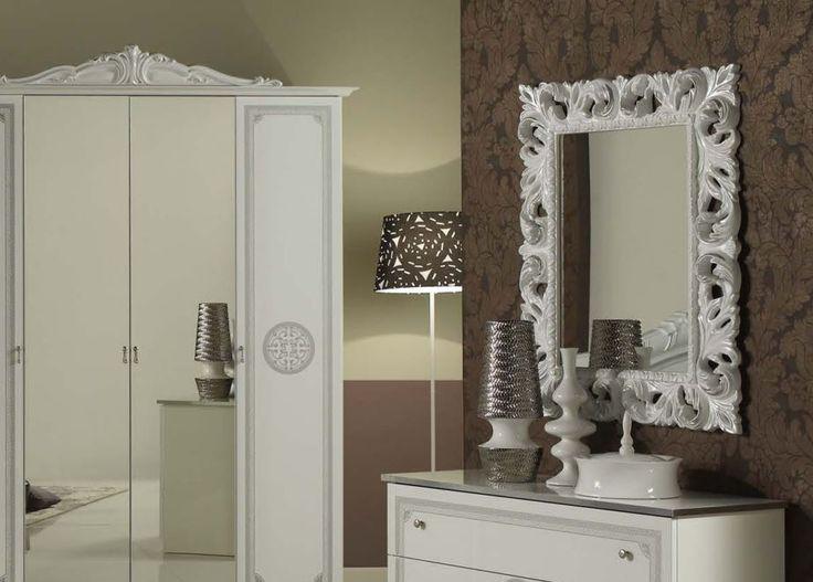Geena White High Gloss Italian Made Ornate Mirror