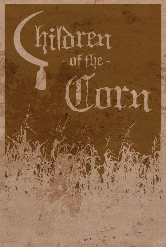 Children of the Corn minimalist movie poster by Cadaverous Jake