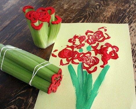 Regals i idees per al dia de la mare. Flors pintura
