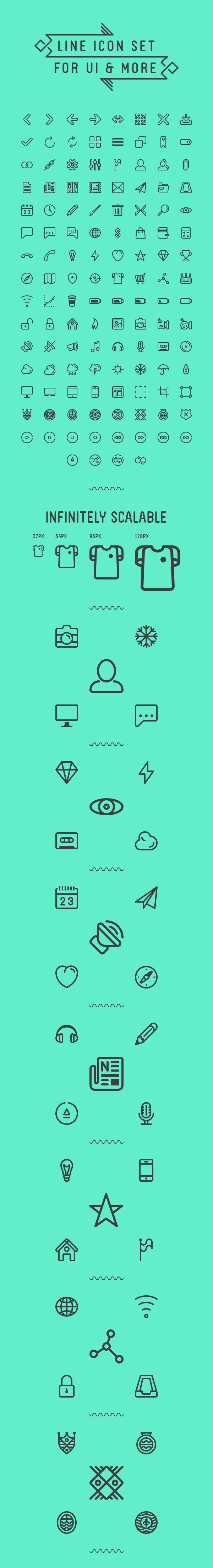 124 Free Line Icons