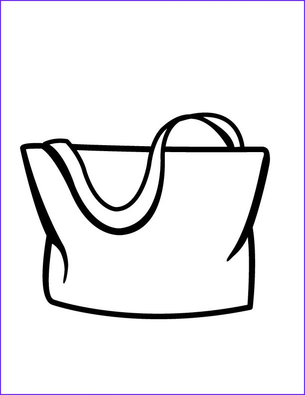 Coloring Bag Bag Coloring Pages School Bag Ii Coloring Page To