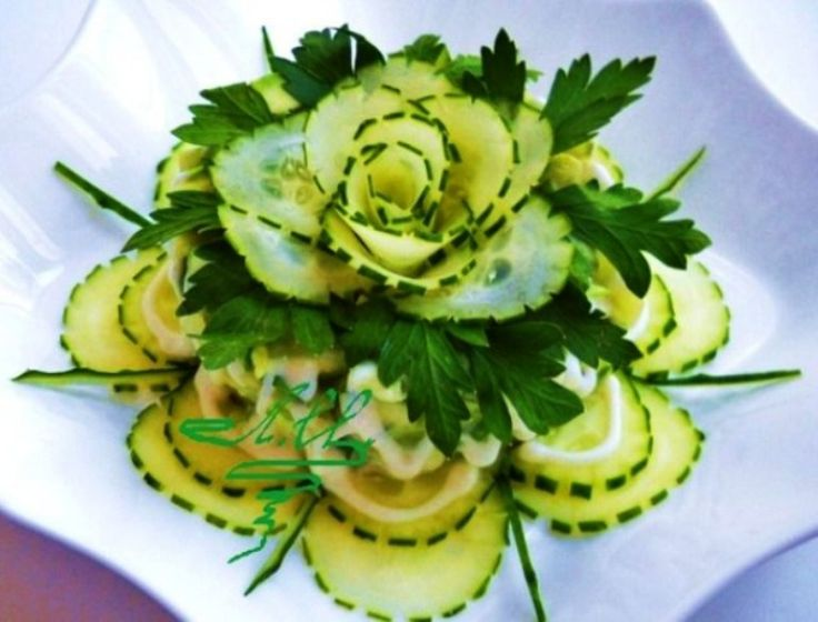 Gorgeous cucumber presentation