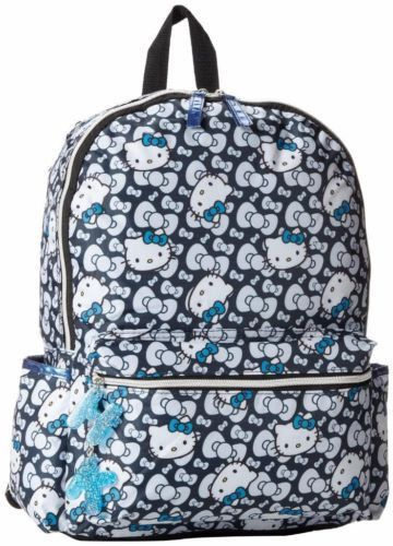Product Info Hello Kitty Black and White Kitty Backpack Product Features - » Fabric - » Imported - » Great Gift Product Details Product Dimensions 16 x 4.5 x 15 inches; 0.3 ounces Origin China