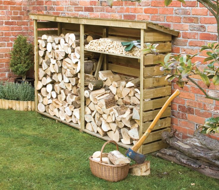 7x2 £130 Gardensite.co.uk Rowlinson Large Log Store