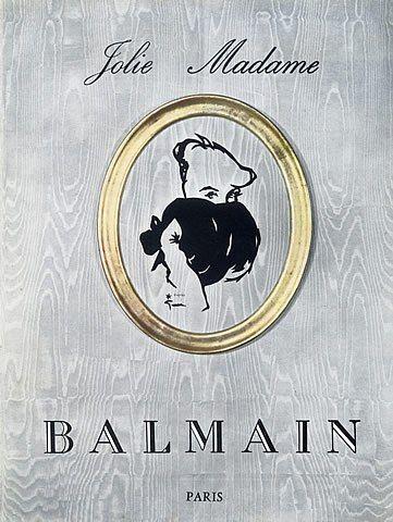 Pierre Balmain 1954 Jolie Madame Muffs René Gruau