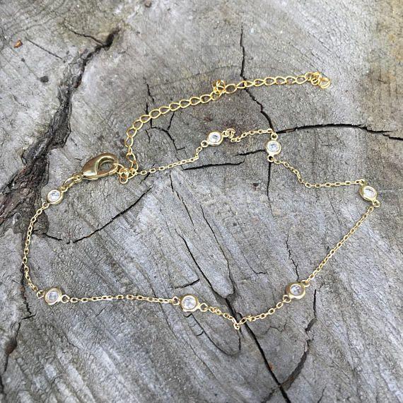 Dainty Diamond Anklet Womens Anklets Ankle Bracelet Diamond