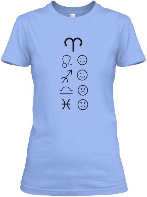 Aries Love Tees Light Light Blue T-Shirt Front