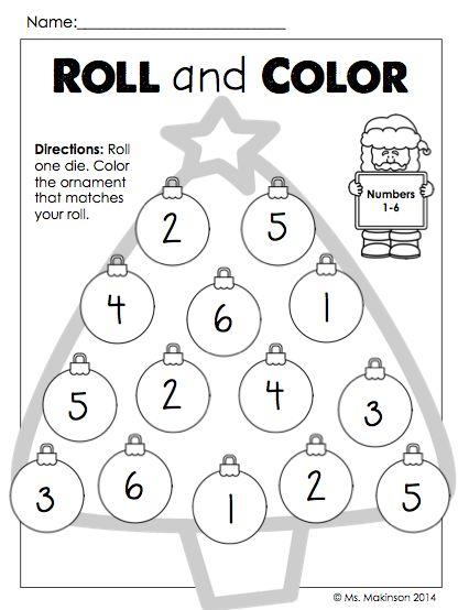 december printables kindergarten literacy and math preschool. Black Bedroom Furniture Sets. Home Design Ideas