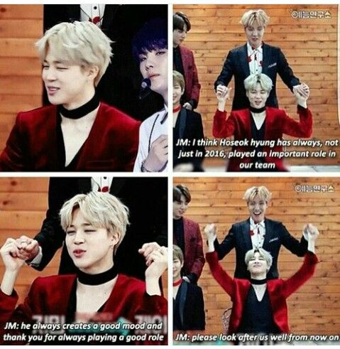 While the others compliment dance, looks, etc. Jimin always compliments something specific and meaningful. Love him <3