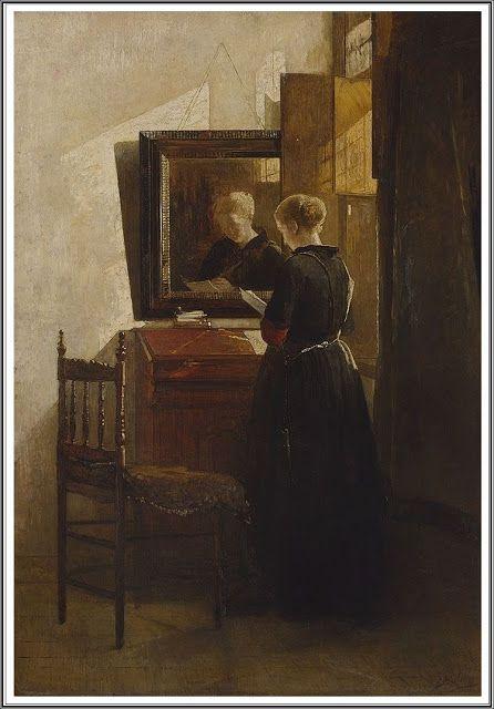 Christoffel Bisschop (1828-1904), Un Rayon de Soleil dans la Maison, dans le Coeur - 1885/90