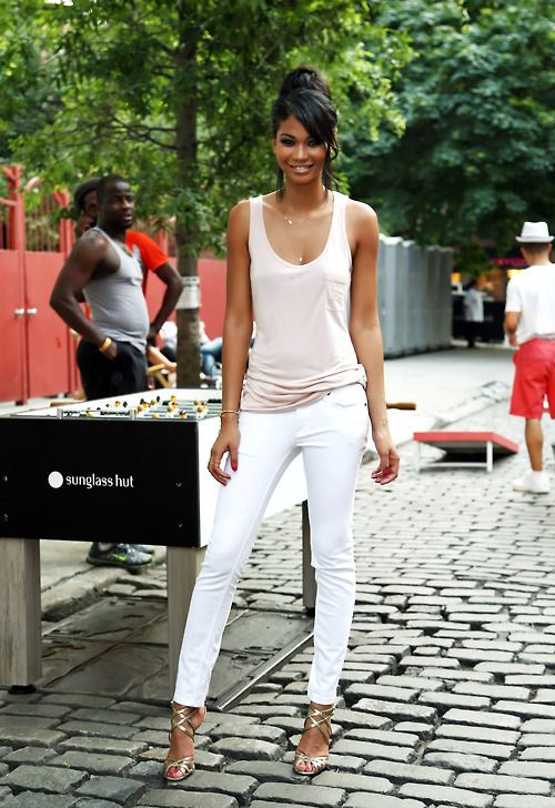 1000  images about What to wear with white skinny jeans! on