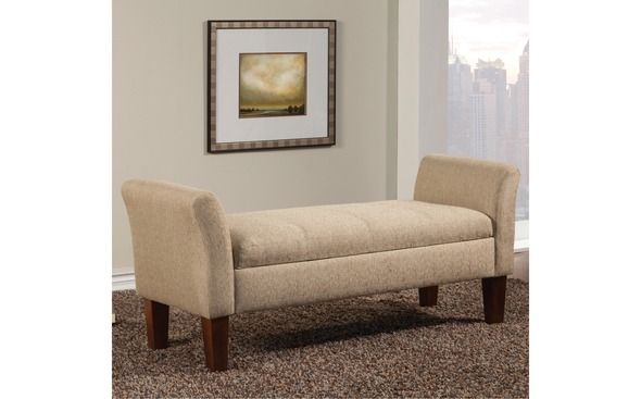 Coaster CS076 Storage Beige Bench/ottoman   – Ottomans