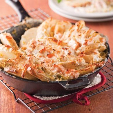 Tartiflette au saumon et poireaux - Recettes - Cuisine et nutrition - Pratico Pratique