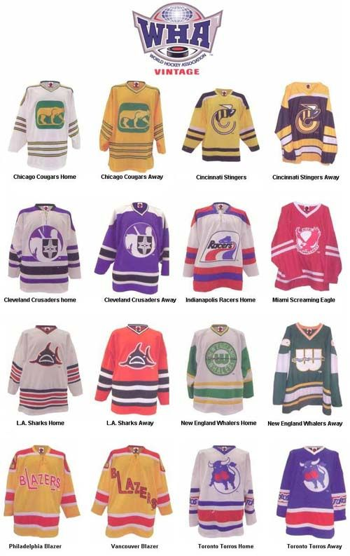 The WHA directly challenged the NHL from 1972 to 1979. Edmonton, New England/Hartford, Winnipeg & Quebec merged into NHL. Other teams included Calgary Broncos, Michigan Stags, LA Sharks, Cleveland Crusaders, NY Raiders, Ottawa Nats/Civics, Philly / Vancouver Blazers, Toronto Toros, Indy Racers, PHX Roadrunners, Denver Spurs, MN Fightin' Saints, SD Mariners, Cincy Stingers.