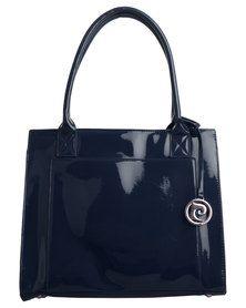 Pierre Cardin Navy Patent Handbag