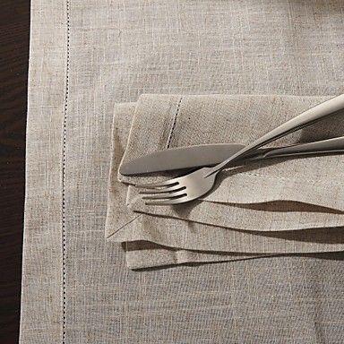 "18""X18"" Modern Style Linen Square Napkins – USD $ 2.99"