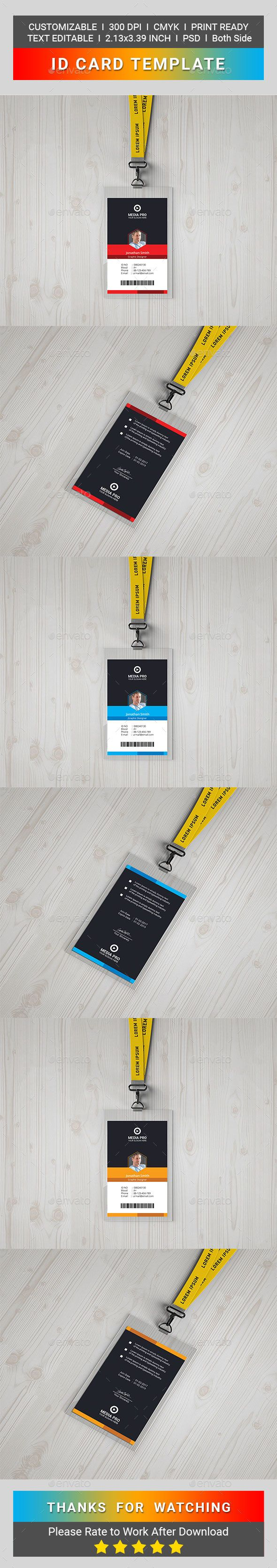 83 best ID Card Design Templates images on Pinterest | Print ...