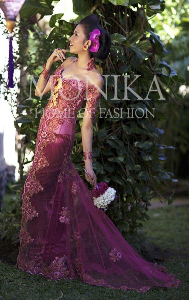 Fuchsia Kebaya with luxury Endek Bali Ikat