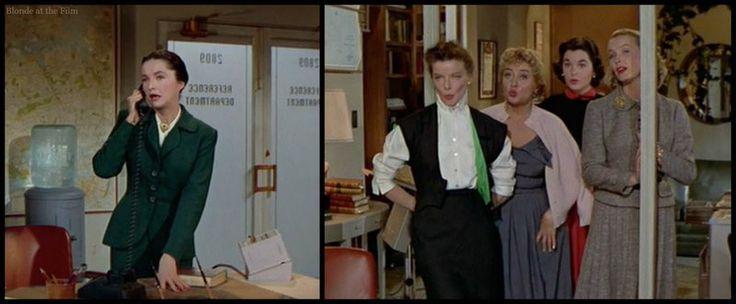 Desk Set Katharine Hepburn Neva Patterson Joan Blondell Dina Merrill And Sue Randall Comes Pinterest Films